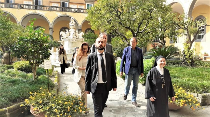 Il Presidente del Parlamento dell'Armenia in visita alla Chiesa e al Monastero di San Gregorio Armeno